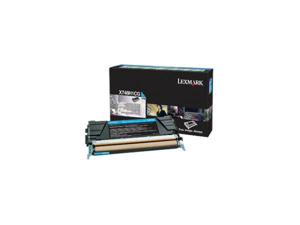 Original Lexmark X748H1CG Toner Cyan