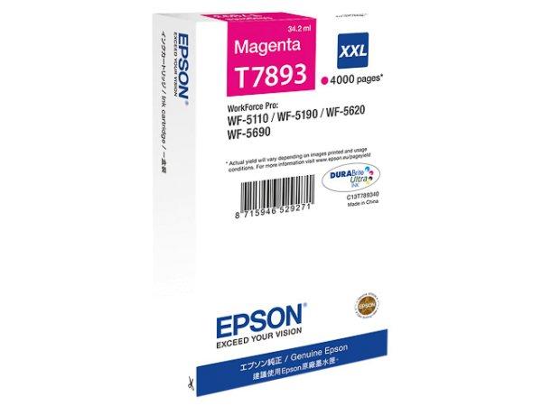 Original Epson C13T789340 / T7893 Tinte Magenta