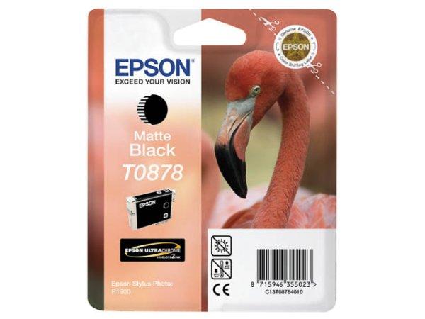 Original Epson C13T08784010 / T0878 Tinte Black (Matt)