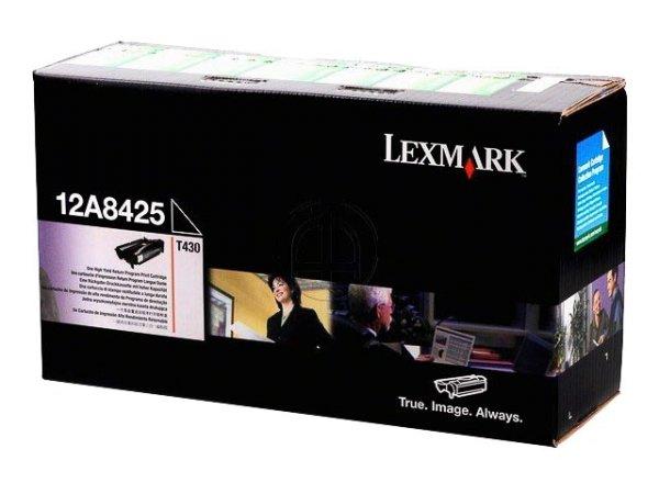 Original Lexmark 12A8425 Toner Black Return