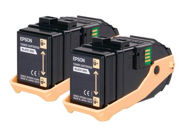 Original Epson C13S050609 Toner Black Doppelpack
