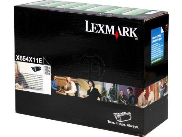Original Lexmark X654X11E Toner Black Return