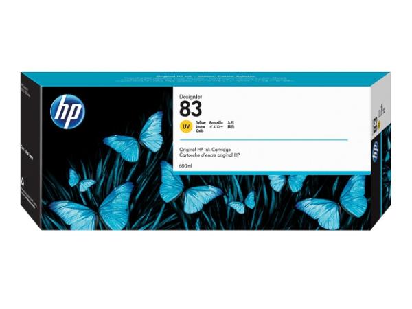 Original HP C4943A / Nr. 83 - UV Tinte Tinte Yellow