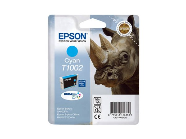 Original Epson C13T10024010 / T1002 Tinte Cyan