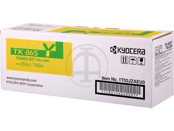 Original Kyocera 1T02JZAEU0 / TK-865Y Toner Yellow