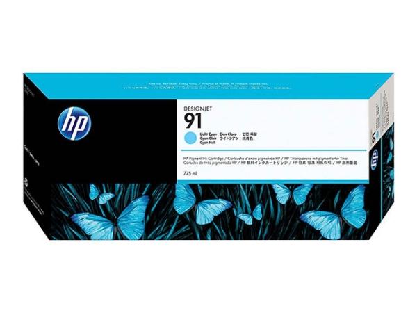 Original HP C9470A / Nr. 91 Tinte Cyan (Light)