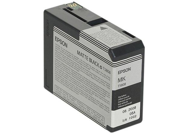 Original Epson C13T580800 / T5808 Tinte Black (Matt)