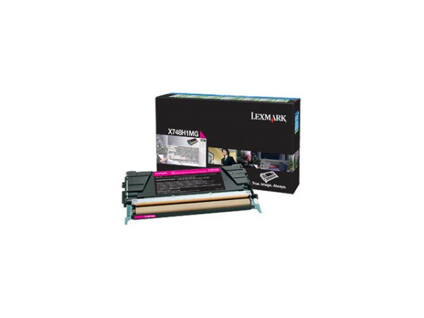 Original Lexmark X748H1MG Toner Magenta