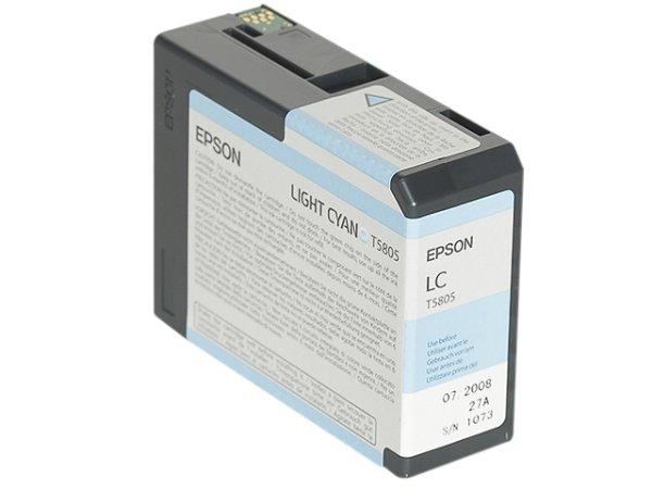 Original Epson C13T580500 / T5805 Tinte Cyan (Light)