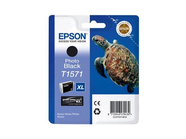 Original Epson C13T15714010 / T1571 Tinte Black (Light)