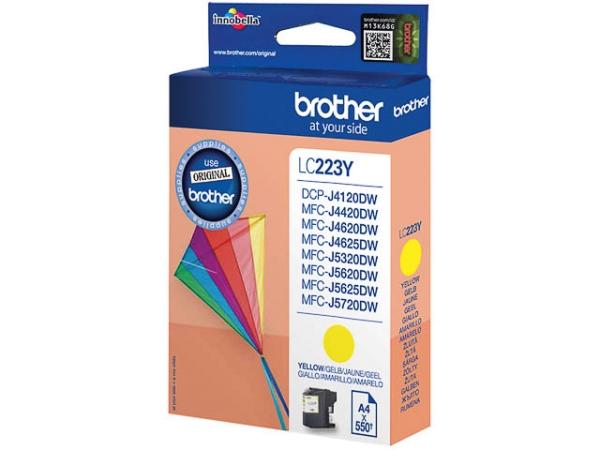 Original Brother LC223Y Tinte Yellow