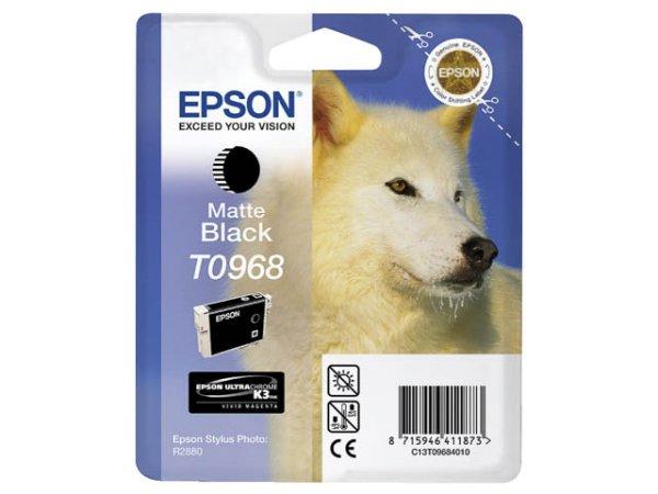 Original Epson C13T09684010 / T0968 Tinte Black (Matt)