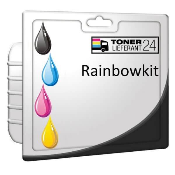 Alternativ Epson C13T12854010 / T1285 Tinte Rainbowkit B/C/M/Y