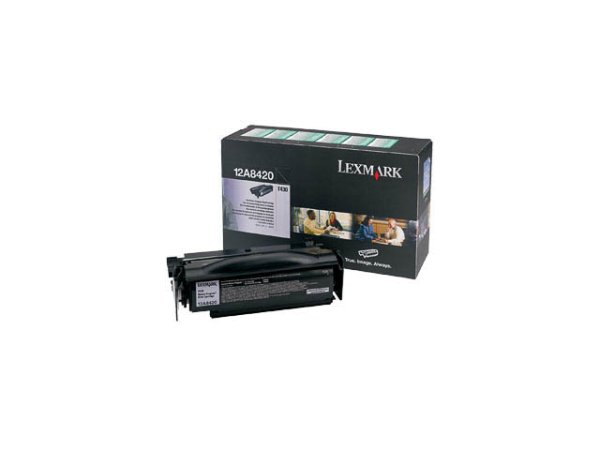 Original Lexmark 12A8420 Toner Black Return