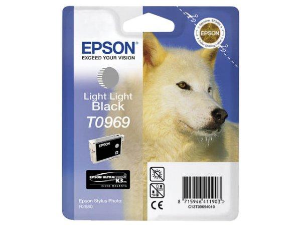 Original Epson C13T09694010 / T0969 Tinte Foto Black (Light)