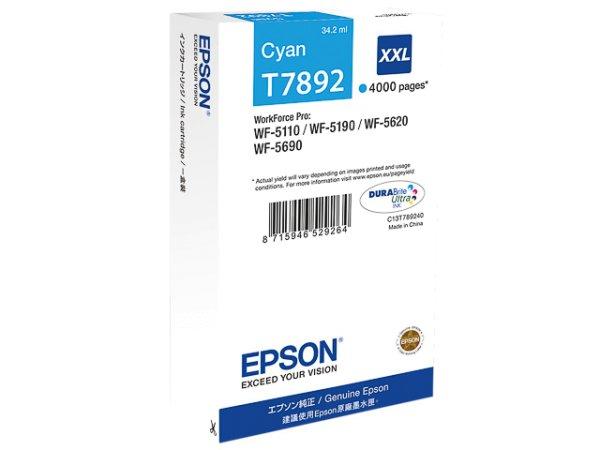 Original Epson C13T789240 / T7892 Tinte Cyan
