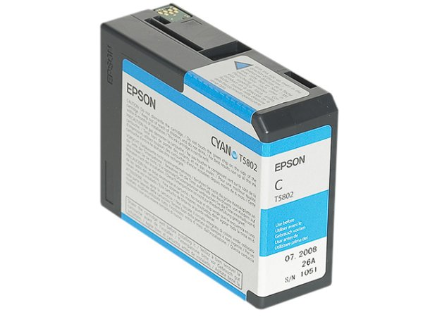 Original Epson C13T580200 / T5802 Tinte Cyan