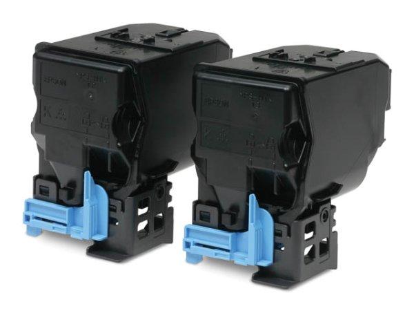 Original Epson C13S050751 Toner Black Doppelpack