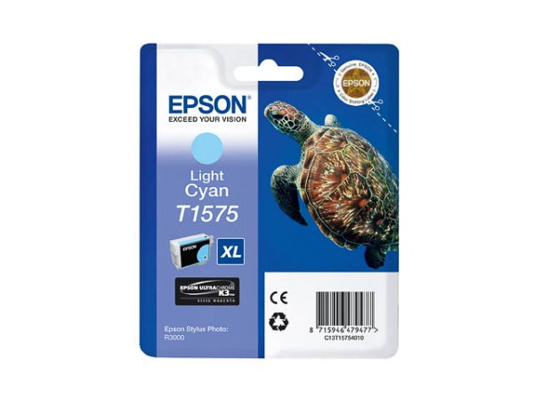 Original Epson C13T15754010 / T1575 Tinte Cyan (Light)