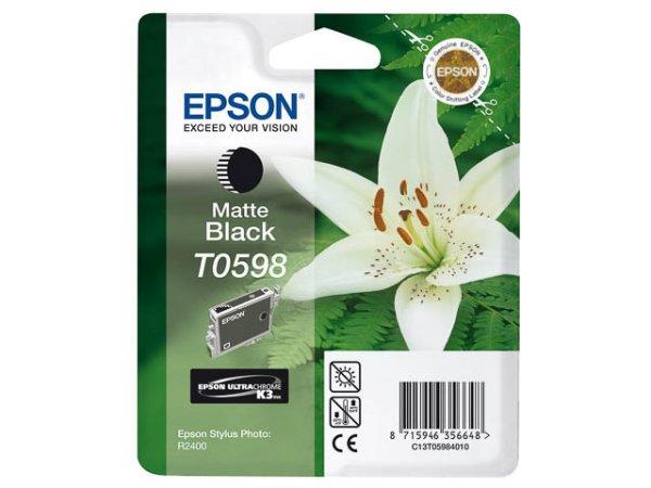 Original Epson C13T05984010 / T0598 Tinte Black (Matt)