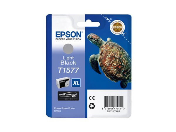 Original Epson C13T15774010 / T1577 Tinte Black (Light)