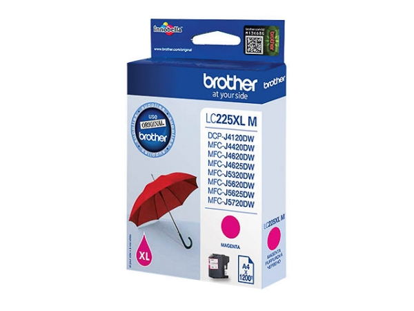 Original Brother LC225XLM Tinte Magenta